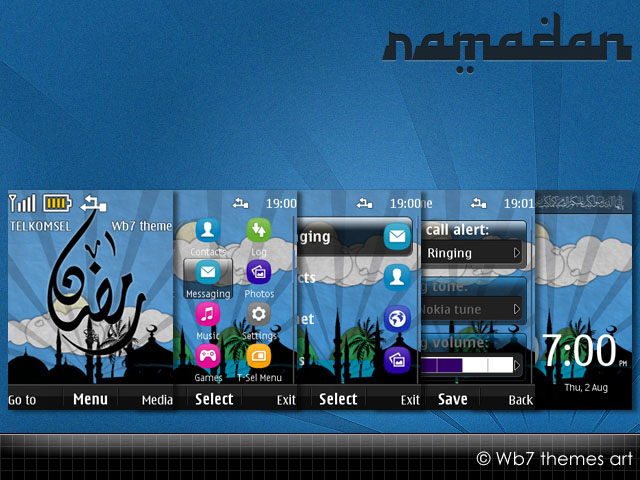 Nokia X2-02,x2-05,asha,306,X2-00 theme ramadan available free version