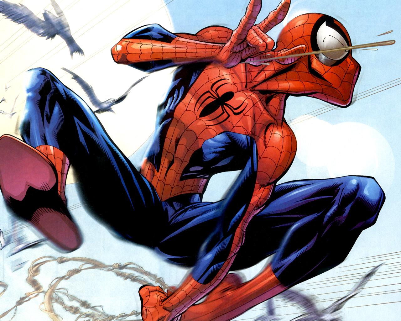 Amazing Spiderman Cute Cartoon Wallpaper