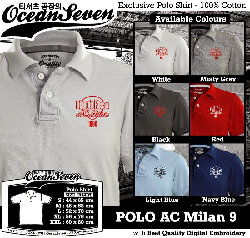 Kaos Polo AC Milan 9