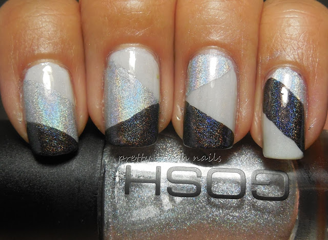 #31DC2013 Black And White -Holographic Color Blocking