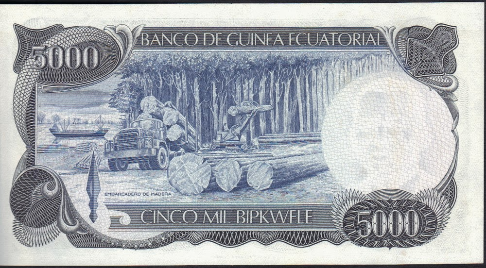 Guinea Equatoriale 5000 Bipkwele 1979 P# 17