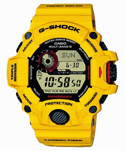 Casio G-Shock GW-9430EJ-9JR Yellow Lightning 30th Anniversary Watch