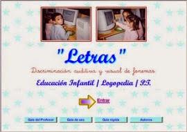 LETRAS:DISCRIMINACIÓN AUDITIVA Y VISUAL DE FONEMAS