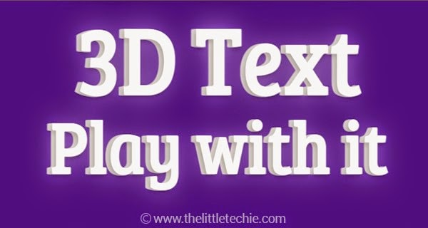 3D text Customizable