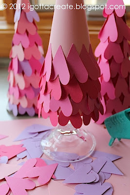 Valentine Heart Cone Tree Tutorial