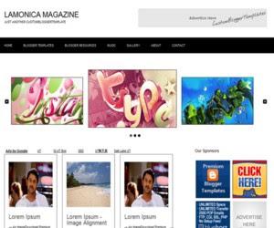 Lamonica Magazine Blogger Template