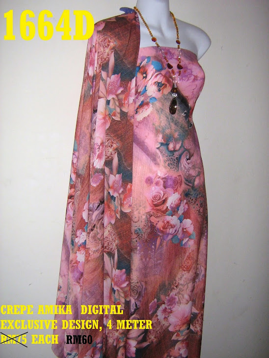 1664D: CREPE AMIKA DIGITAL EUROPE COLLECTION, 4 MTR, EXCLUSIVE DESIGN,  SGT CANTIK