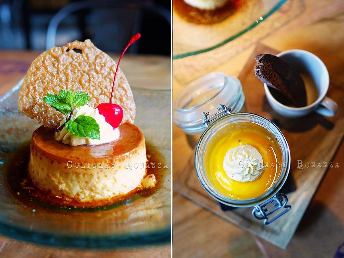 Cream Caramel and Mango Tiramisu