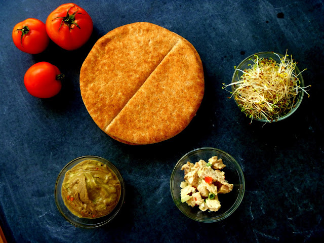 Ingredients for a simple three layer pita pocket recipe on Gift Style Blog Gave That