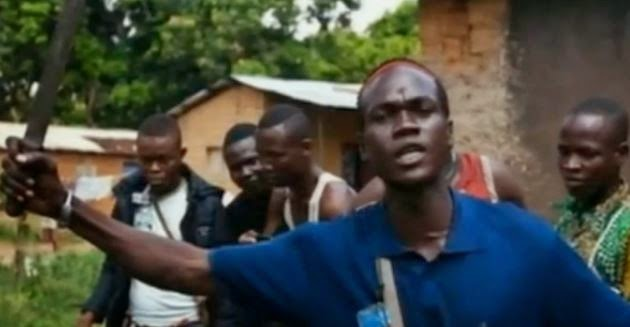 Militia members in the Central African Republic. (Screen capture from YouTube video)
