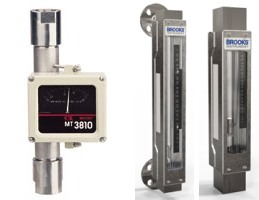 Industrial process variable area flow meters rotameters