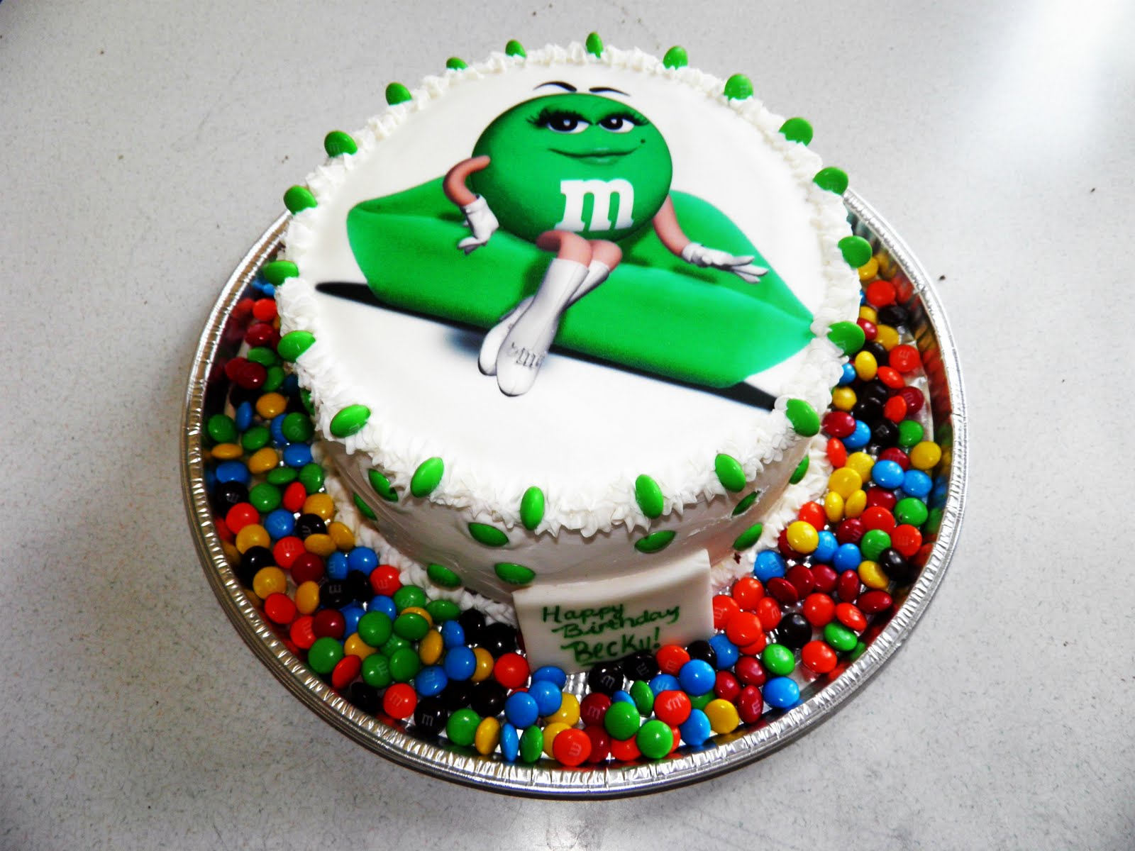Green MM Cake