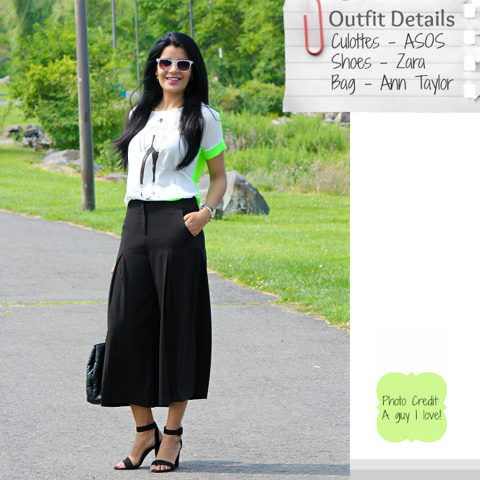 How To Wear Culottes Pants, ASOS Culottes. Pleated Culottes, Midi Length Culottes, Zara Ankle Strap Sandals