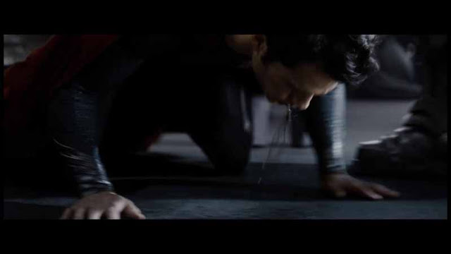man of steel superman bleeding