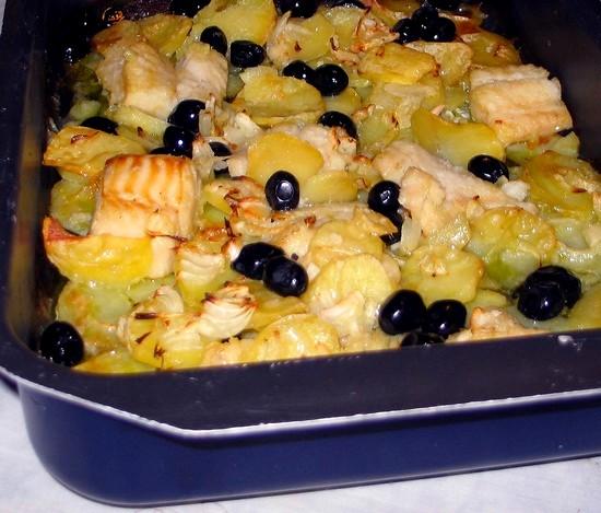 Baccala 39 al forno con patate cucina green for Cuocere v cucinare