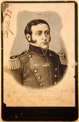Gobernador don Manuel Críspulo Bernabé Dorrego, bella postal tomada de lapenialoza.blogspot.com.ar