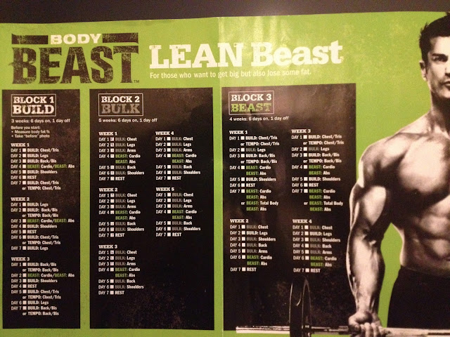 lean beast workout schedule search results calendar 2015. Black Bedroom Furniture Sets. Home Design Ideas