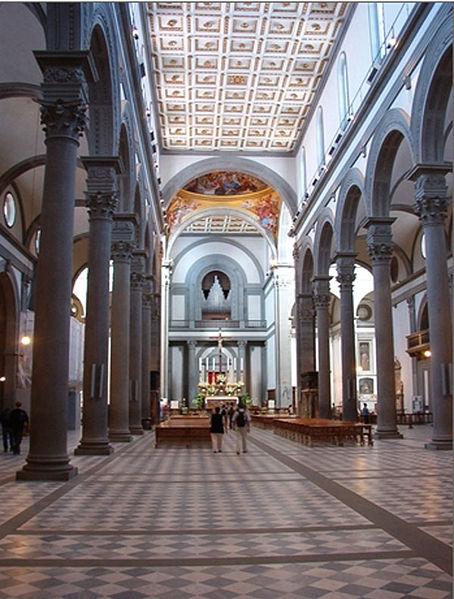 Arte y arquitectura bas lica de san lorenzo for Interior iglesia san lorenzo brunelleschi