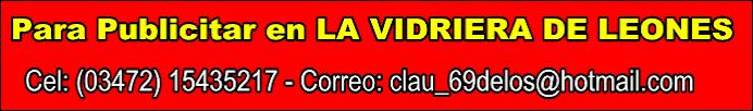 Para publicitar en LA VIDRIERA DE LEONES