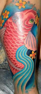 Tattoos de Carpas Femininas (Imagens, Desenhos e Fotos)