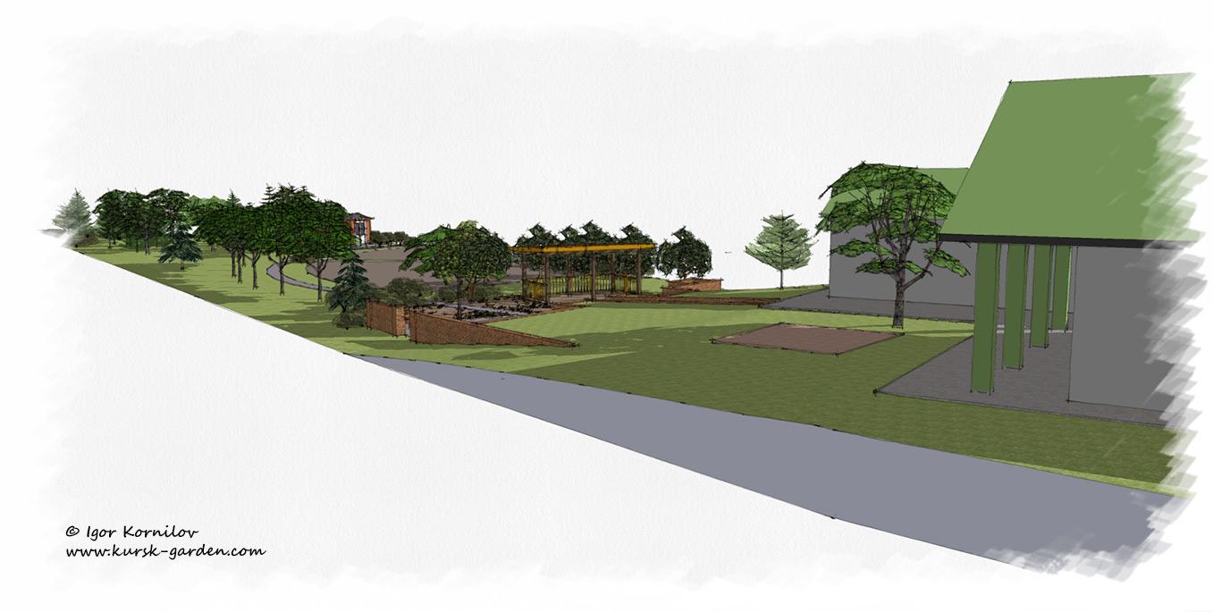 Эскизы сада (ландшафтный проект)