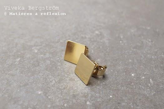 Boucles Viveka Bergstrom carrées dorées