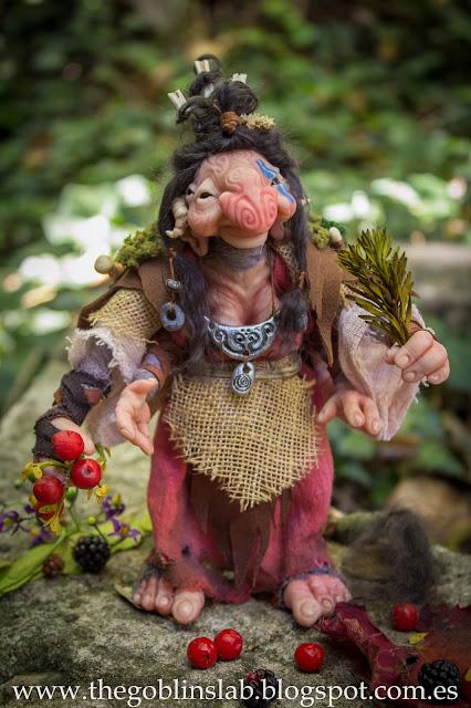 ooak fantasy creature healer goblin