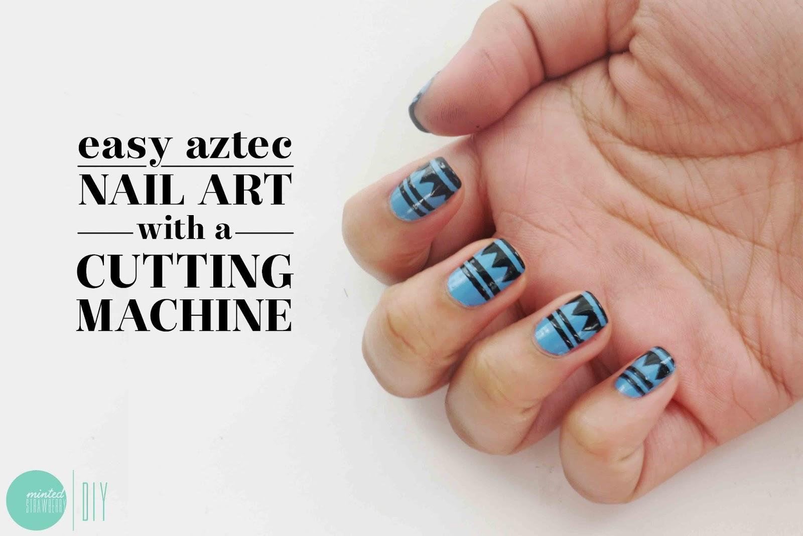 Nail polish aztec nail art stencils minted strawberry i prinsesfo Gallery