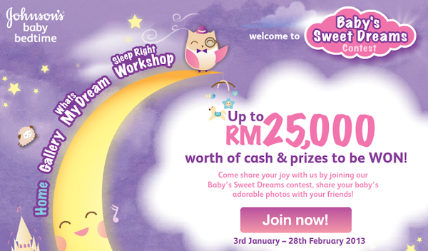 Johnson's Baby Bedtime 'Baby's Sweet Dreams' Contest