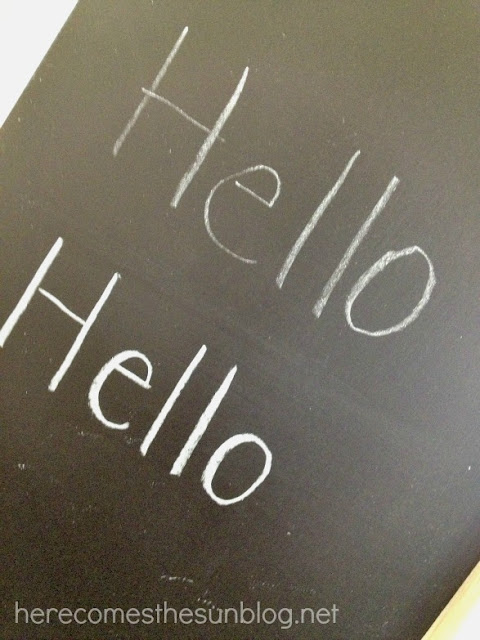 Chalkboard Art Tutorial from herecomesthesunblog.net #chalkboard