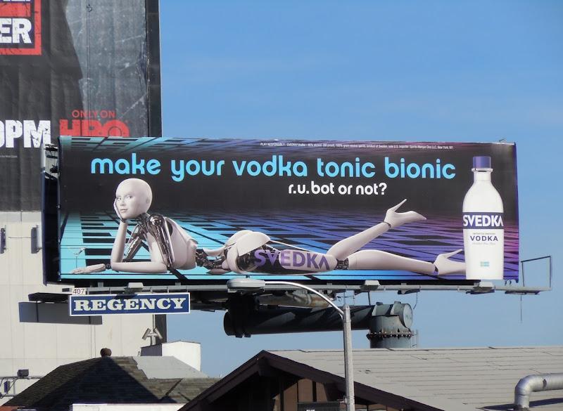 Svedka tonic bionic billboard