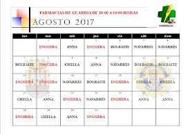 FARMACIA DE GUARDIA AGOSTO 2017