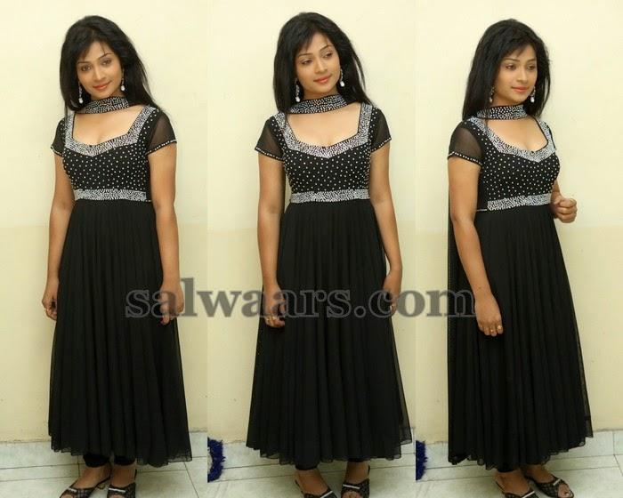 Swetha Shaini Black Salwar
