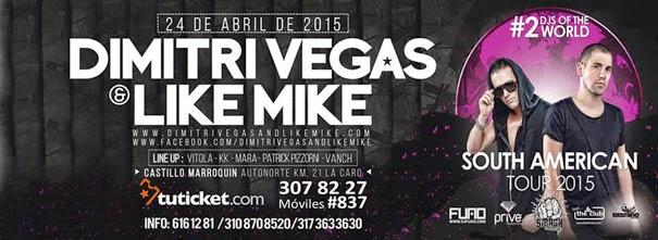 DIMITRI VEGAS & LIKE MIKE BOGOTA @ CASTILLO MARROQUIN