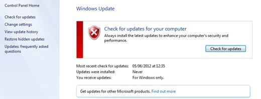 aktifkan update otomatis