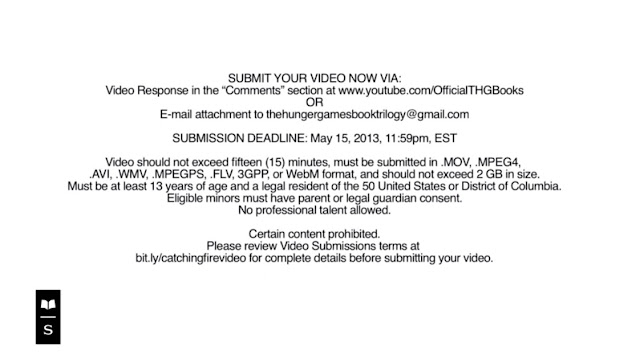 Catching Fire book trailer contest terms