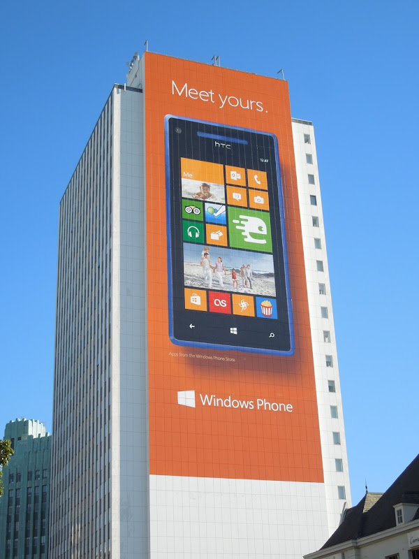 Giant Windows Phone billboard