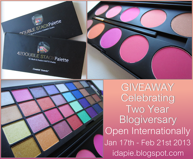 Giveaway Celagrating Two Years Blogiversary. Until February 21