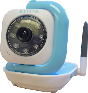 hestia baby video monitor in blue