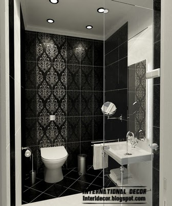 black bathroom tile patterns, black wall tiles, black tiles