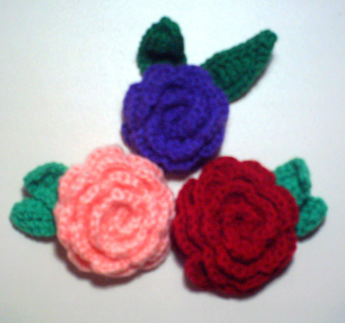Imagenes de flores tejidas en crochet - Imagui