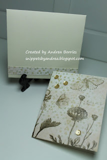 Card and coordinating hand-made envelope.