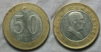 turkey 50 kurus 2005