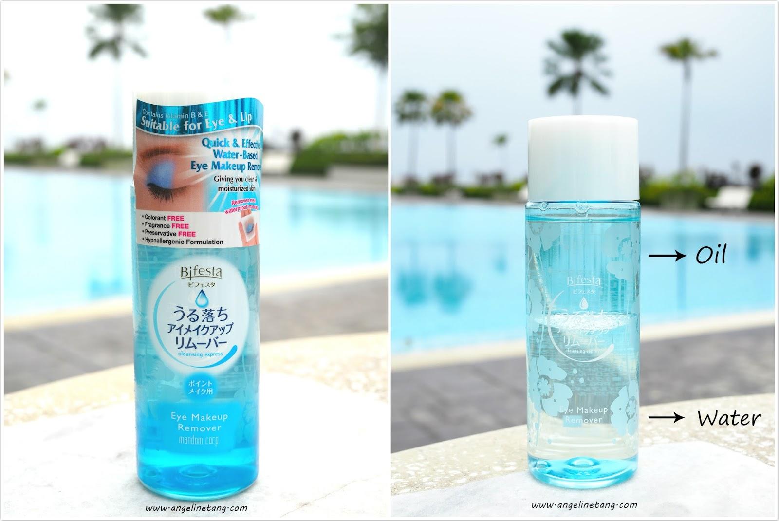 Water based eye makeup remover