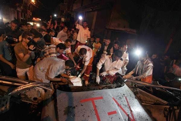 """الليلة الثالية من ليالي الحرب على غزة """" ليلة المجازر """""""