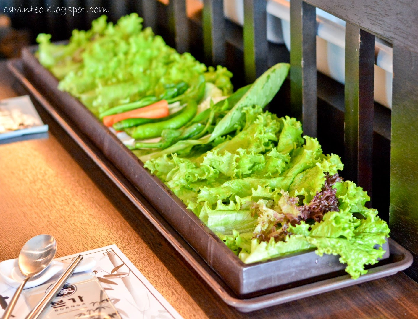 Entree kibbles bornga korean bbq restaurant city square shopping tray of fresh vegetables a healthy necessity for any korean bbq forumfinder Choice Image