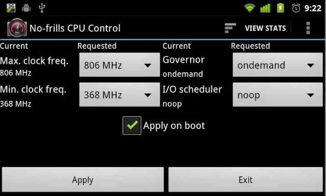 no-frills cpu control app