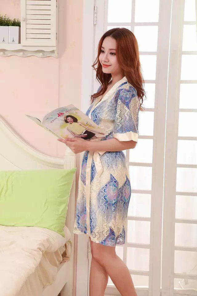 gambar Baju Tidur SL1207 Blue