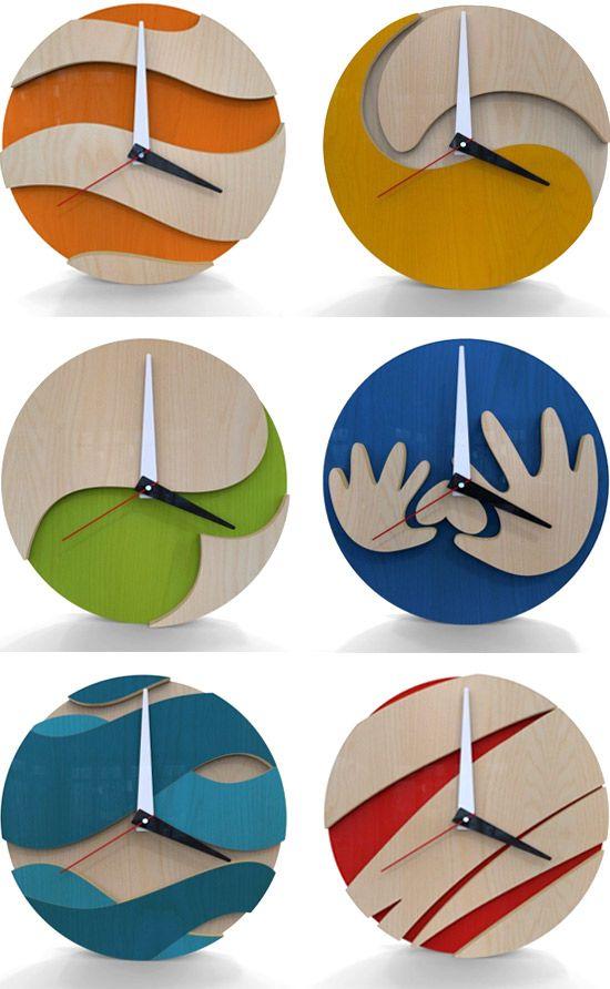 Relógios reutilize MDF