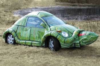 A Bizarre Turtle Car